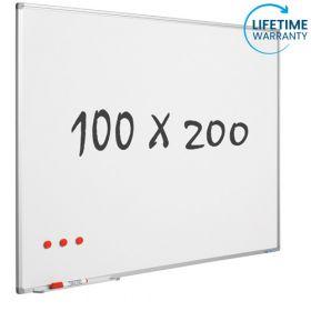 Whiteboard 100x200 cm - Magnetisch / Emaille