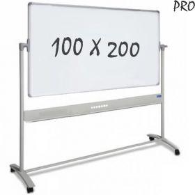 Whiteboard Verrijdbaar - Dubbelzijdig - Magnetisch - Emaille 100 x 200 cm *OUTLET* #01
