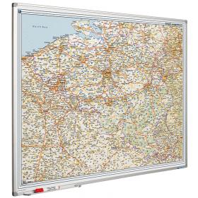 Whiteboard landkaart - België Luxemburg wegenkaart