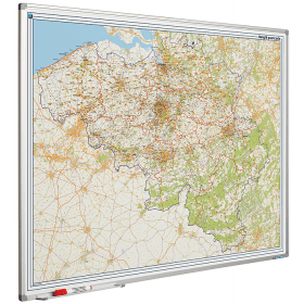 Whiteboard landkaart - België postcodes