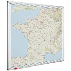Whiteboard landkaart - Frankrijk wegenkaart