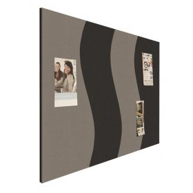 Prikbord bulletin - Wave - Zwart-Grijs 1