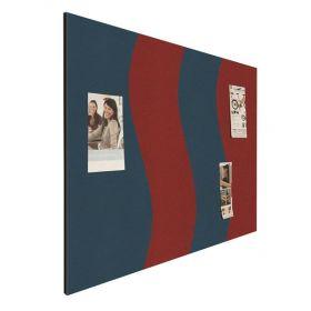 Prikbord bulletin - Wave - Rood-Blauw 1