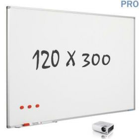 mat whiteboard emaille 120 x 300 cm