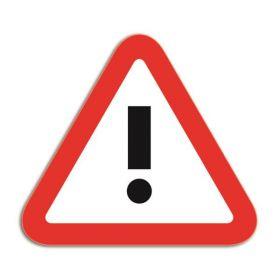 Beschrijfbare magneet voor whiteboards - Attentie - Rood/Wit (5 stuks)