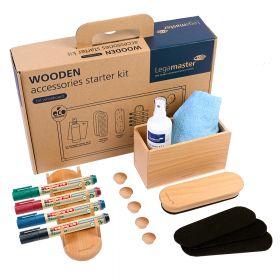 Wooden accessoires starterkit voor whiteboards