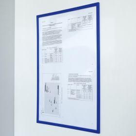 Magnetische documenthouder PRO - A4 - Blauw - Per stuk