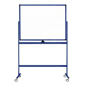 Verrijdbaar whiteboard - Dubbelzijdig en magnetisch - 100x150 cm - Blauw