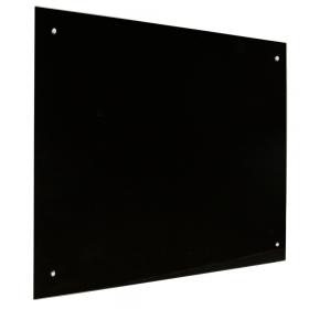 zwart glassboard 60x90 cm