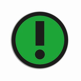 Impressiemagneten – Uitroepteken groen – Ø 50 mm – set van 5 stuks