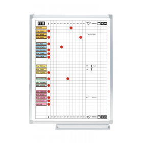 Professional aan- en afwezigheidsbord - 60 x 45 cm - 25 namen