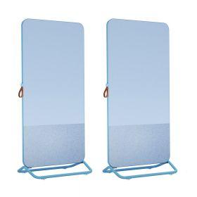 Chameleon Mobile 1/3e prikbord 2/3e whiteboard dubbelzijdig 89 x 192 cm – Blauw