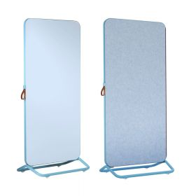 Chameleon Mobile dubbelzijdig whiteboard/prikbord 89 x 192 cm - Blauw