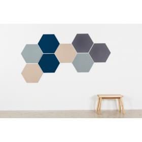 Design prikbord zeshoek - kleurcode 2214 - donkerblauw
