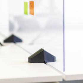 Scheidingsscherm / bureauscherm plexiglas - Incl. bureauklemmen voor dubbel bureau - 58x75 cm