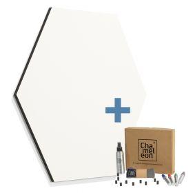 zeshoekig whiteboard frameless wit 98cm