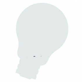 Skin whiteboard - Idee lamp - Wit - 75x115 cm