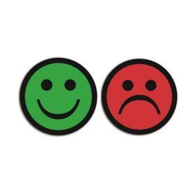 Dubbelzijdige magneet voor whiteboards - Face - Groen/Rood (5 stuks)