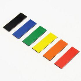 Magnetische symbolen - Rechthoek - 1 x 2 cm - Blauw - vel van 48 stuks