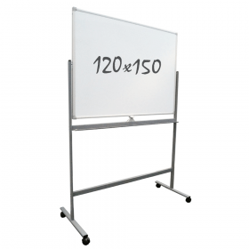 Whiteboard Verrijdbaar - Dubbelzijdig - Magnetisch - 120x150 cm *OUTLET* #01