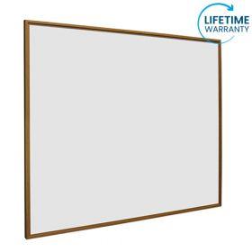 Whiteboard softline profiel 16mm Eiken-houtlook, emailstaal wit 100x200 cm 1
