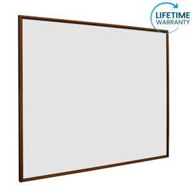 Whiteboard softline profiel 16mm Noten-houtlook, emailstaal wit 100x150 cm 1