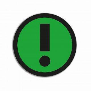 Uitroepteken groen